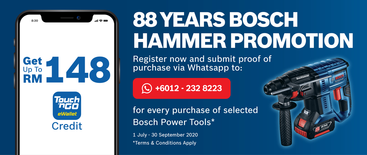 88 Years Bosch Hammer Promotion